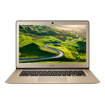 Acer Chromebook 14, CB3-431-C6ZB, Celeron N3160 / 1.6 GHz Quad-core, Chrome OS, 4 GB RAM, 32 GB eMMC, 14 inch IPS 1920 x 1080 ( Full HD ), HD Graphics 400, 802.11ac, Sparkly Gold