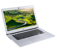 Acer Chromebook 14, CB3-431-C7VZ, Celeron N3160 / 1.6 GHz Quad-core, Chrome OS, 4 GB RAM, 32 GB eMMC, 14 inch IPS 1920 x 1080 ( Full HD ), HD Graphics 400, 802.11ac, Sparkly Silver
