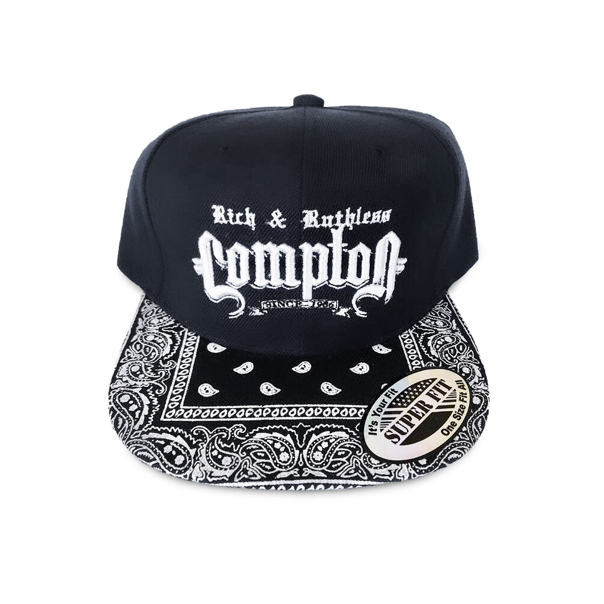 Rich & Ruthless Compton Hat (Black Paisley)