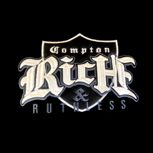 Rich & Ruthless Compton Crest Sweater (Black/Gray)