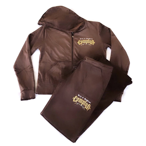 Rich & Ruthless Compton Women's Snug Fit Tracksuit (Brown)