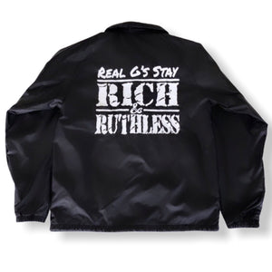 Real G's Stay Rich & Ruthless Jacket (Black)