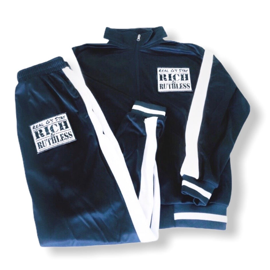 Real G's Stay Rich & Ruthless Tracksuit (navy)