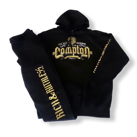 Stay Rich & Ruthless 'Team Compton' Sweatsuit (Black)