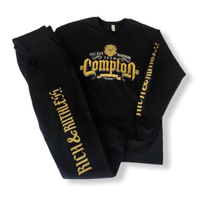 Stay Rich & Ruthless 'Team Compton' Tshirt/Sweatpant Set (Black)
