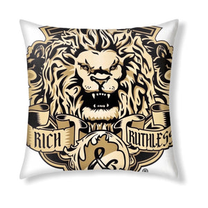 Rich & Ruthless Lion Crest Collectible Throw Pillow
