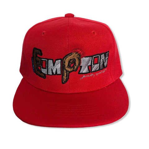 Compton Unity Fitted Cap ~ red