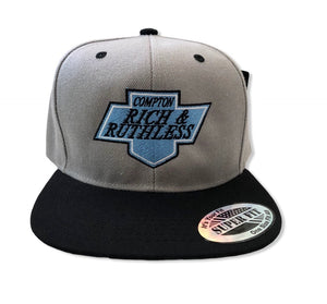 Compton Rich & Ruthless Kings Snapback (Gray)