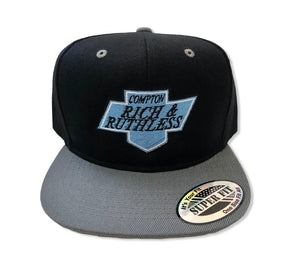 Compton Rich & Ruthless Kings Snapback (Black/Gray)