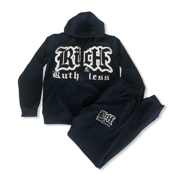 Rich & Ruthless Active Sweat Suit - Navy