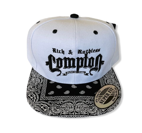 Rich & Ruthless Compton Since 1986 (Snapback White Paisley)