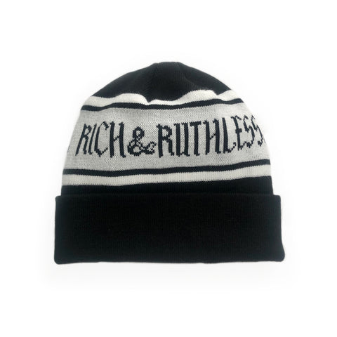 Rich & Ruthless Beanie (Black/Gray)