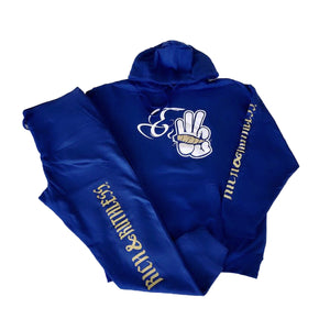 LIMITED EDITION - Rich & Ruthless E3 Sweatsuit (Blue)