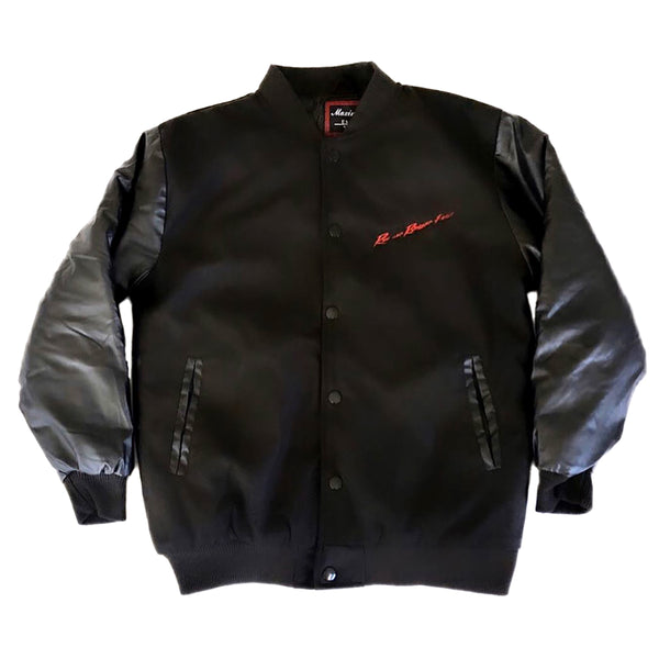 Rich & Ruthless Family Mafia Letterman Jacket (Black)