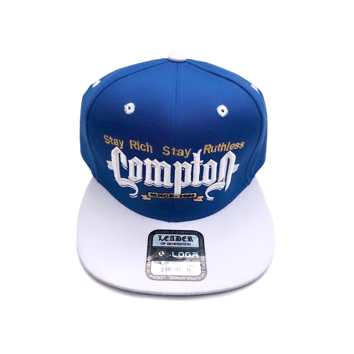 Rich & Ruthless Compton Hat (Blue/White)