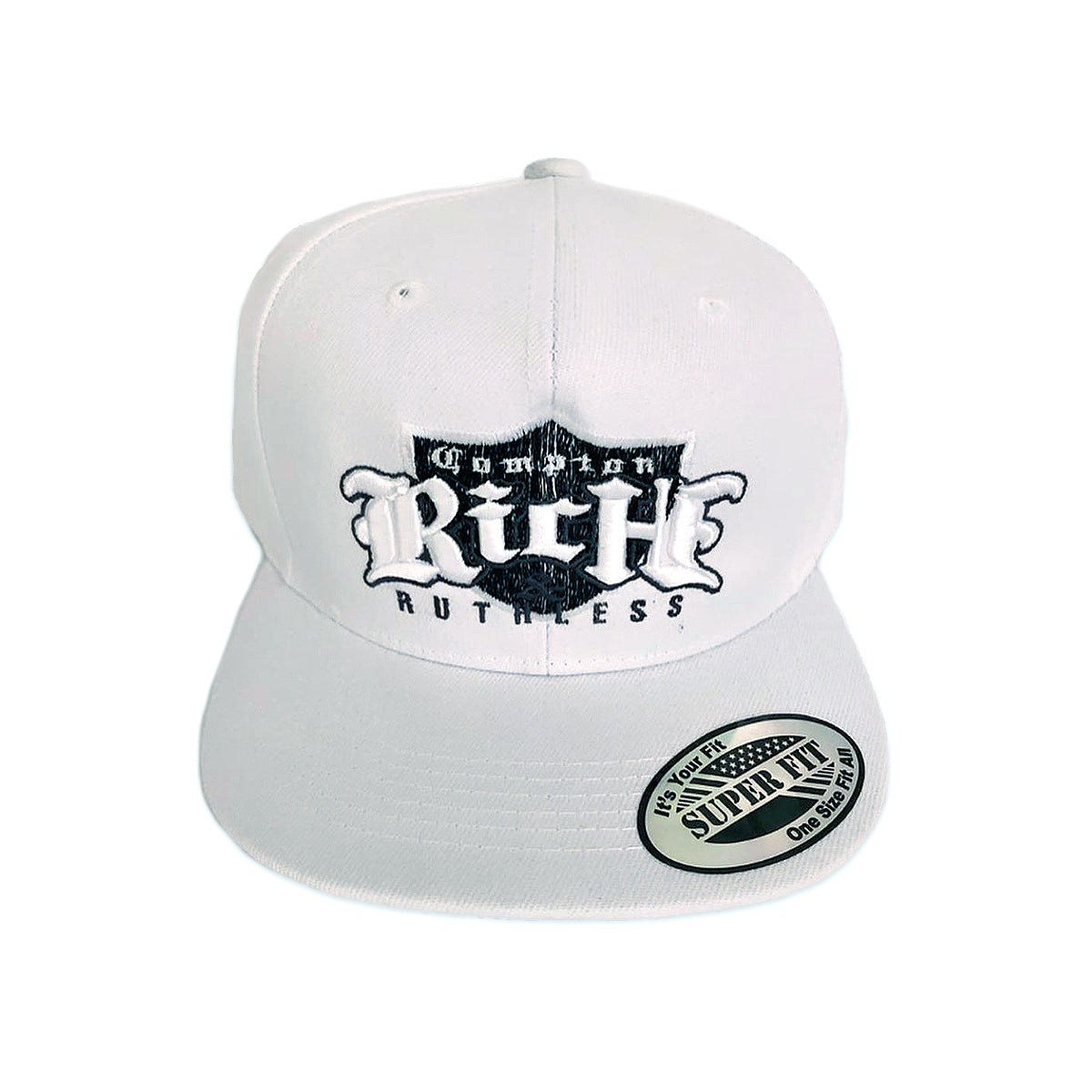 Rich & Ruthless Compton Crest Hat (White)