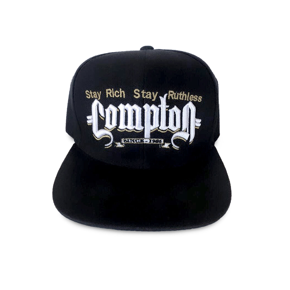 Stay Rich Stay Ruthless Compton Hat (Black)