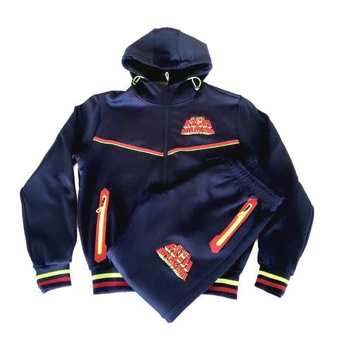 Rich & Ruthless Retro Joe Cool Sweatsuit (Navy/Red)