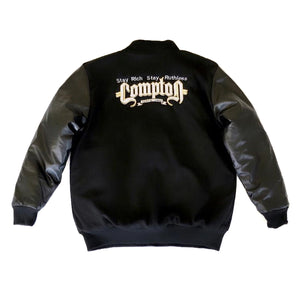Stay Rich Stay Ruthless Letterman Jacket (Black)