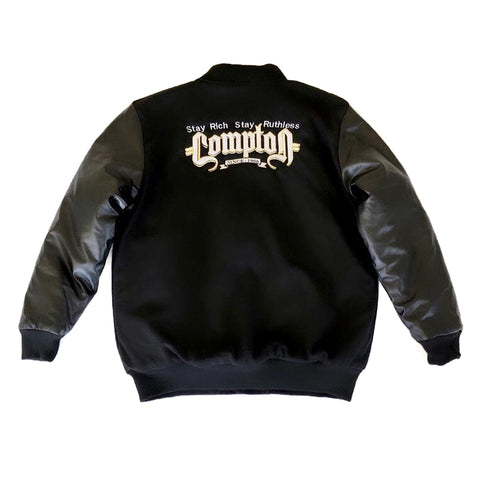 Stay Rich Stay Ruthless (Letterman Jacket Black)