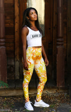 "Electric Daisy Leggings in ""Clementine"""