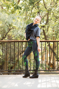 "Electric Daisy Leggings in ""Venom"""