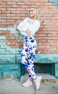 "Electric Daisy Leggings in ""Purple Rain"""