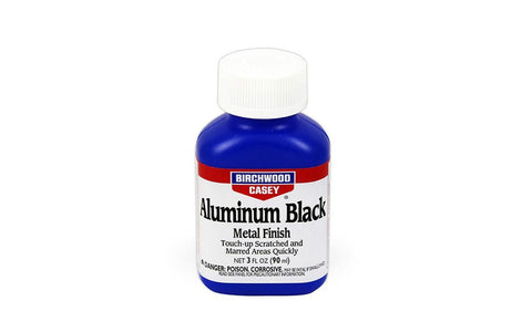 A bottle of Birchwood Casey Aluminum Black