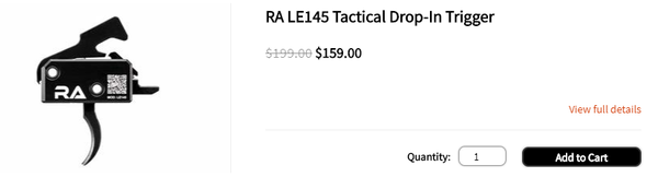 RA LE145 Tactical Drop-In Trigger - Blog Photo #1