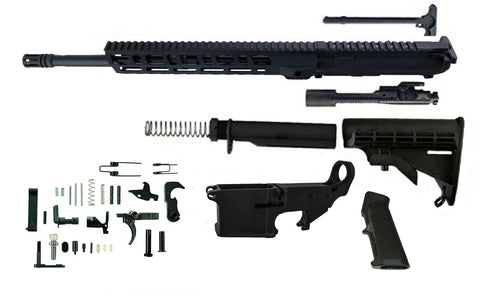 "5.56 (16"" Barrel & 12"" M-Lok Handguard) AR 15 Rifle Kit with 80% Lower Fire/Safe Marked - 80% Lowers"