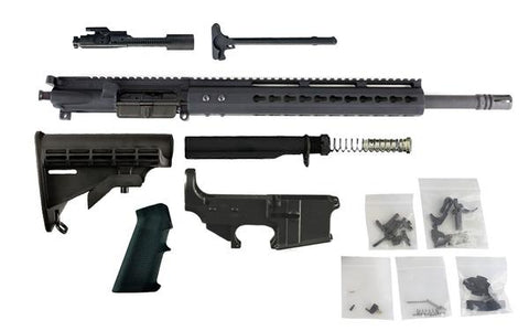 "Complete Rifle Build Kit - 300 Blackout (16"" Barrel & 12"" Lightweight Keymod Handguard) AR 15 - 80% Lowers"
