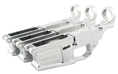 AR-10 80% Lowers Fire/Safe Marked Raw (3-pack)