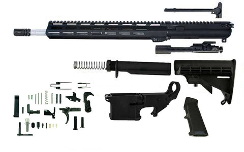 "5.56 (16"" Stainless Barrel & 13.5"" M-Lok Handguard) AR 15 Rifle Kit with 80% Lower Fire/Safe Marked - 80% Lowers"