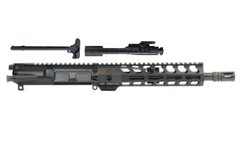 "Complete Upper Assembly - 10.5"" Pistol Length .300AAC Blackout 1:8 Nitride 9"" Lightweight M-LOK Freedom - 80% Lowers"