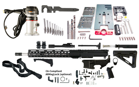 "Ultimate AR 15 Rifle Kit (5.56 16"" Stainless Steel & M-LOK Handguard)"