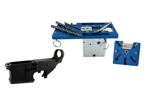 80% Lower Fire/Safe (1-pack) Marked & 5D Tactical Jig w/ Tooling - 80% Lowers
