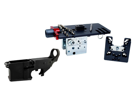 80% Lowers Fire/Safe (1-pack) & Easy Jig Gen 2 Multi Platform with Tooling (AR-9 / AR-15 / LR-308) - 80% Lowers