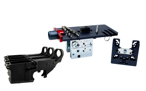 80% Lowers Fire/Safe (3-pack) & Easy Jig Gen 2 Multi Platform with Tooling (AR-9 / AR-15 / LR-308) - 80% Lowers