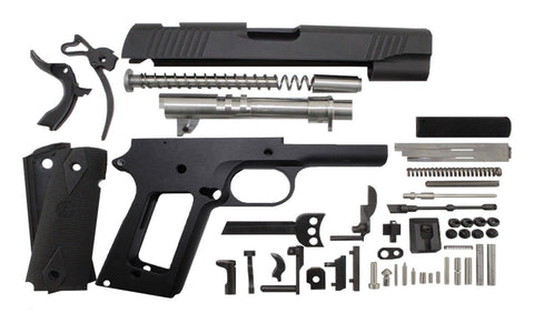 "9mm / 4.25"" Commander / Anodized Black 1911 Build Kit - 80% Lowers"