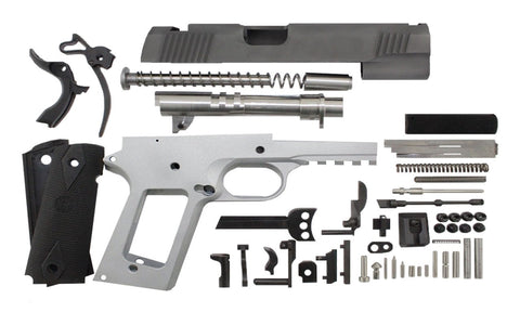 "45 ACP / 4.25"" Commander Tactical  / Bead Blasted 1911 Build Kit - 80% Lowers"