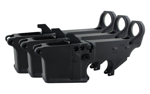 AR-9 (9MM) 80% Lower Fire/Safe Marked (3-pack)