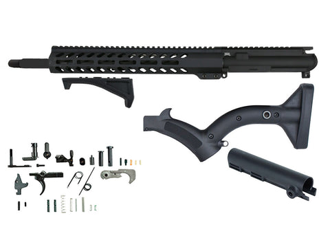 "CA Featureless Build Kit (5.56 Nitride w/ 13.5"" MLOK Handguard) - 80% Lowers"