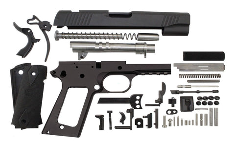 "9mm / 4.25"" Commander Tactical  / Anodized Black 1911 Build Kit - 80% Lowers"