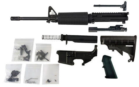 "300 Blackout Freedom Build Kit (16"" Barrel and Fixed Front Site) with AR15 Fire/Safe 80% Lower - 80% Lowers"