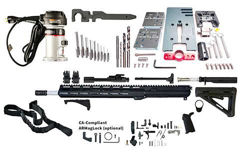 "Premium Ultimate AR 15 Rifle Kit (16"" w/ M-Lok) - 80% Lowers"