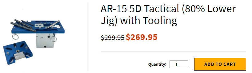 AR-15 5D Tactical (80% Lower Jig) with Tooling