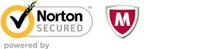 Secured by Norton and McAfee