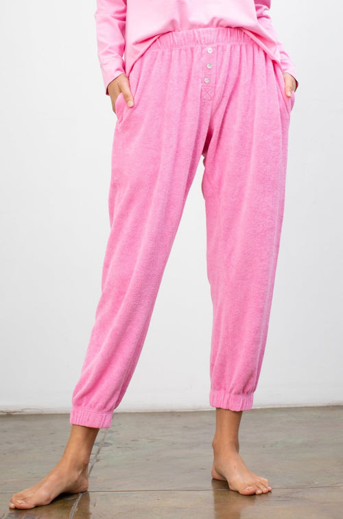 Terry Henley Sweatpant Flamingo