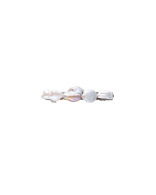 Large Mixed Pearl Barrette