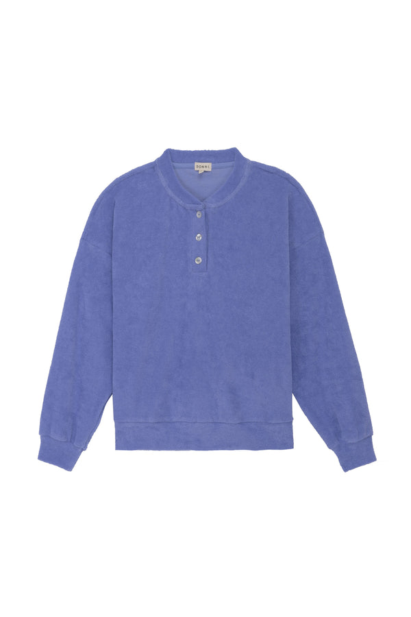 Terry Henley Sweatshirt Iris by Donni